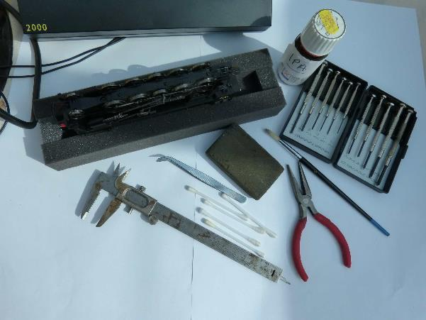 Selection of useful tools and equipment